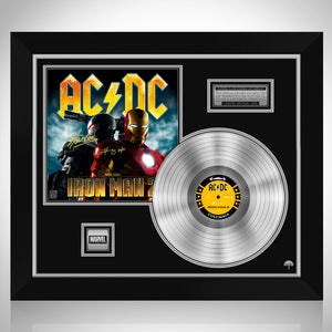 AC/DC Iron Man 2 Soundtrack Platinum LP Limited Signature Edition Studio Licensed Custom Frame