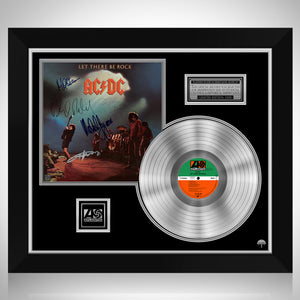 AC/DC - Let There Be Rock Platinum LP Limited Signature Edition Studio Licensed Custom Frame