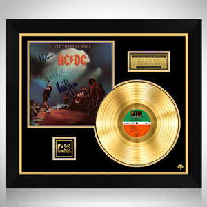 AC/DC - Let There Be Rock Gold LP Limited Signature Edition Studio Licensed Custom Frame
