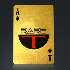 24K Gold Plated Playing Cards I Know You Lying But Continue...Pattern