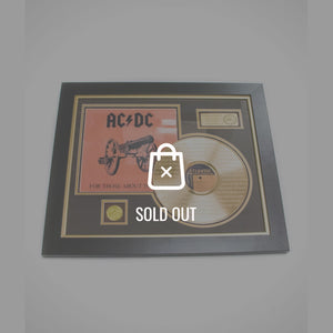 Ac/Dc - For Those About To Rock Lyrics Gold LP Rare-T Exclusive Limited Edition Custom Frame