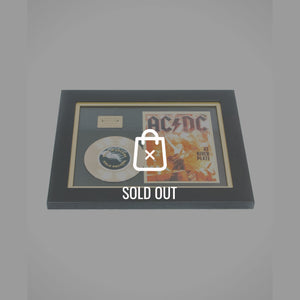 Rare-T Exclusive Limited Edition Gold 45 'Ac/Dc - Live At The River Plate' Custom Frame