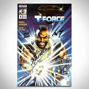Mr. T & The T-Force #1 - Hand-Signed Comic Book by Mr.T & Stan Lee Custom Frame