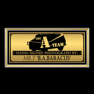 The A-Team- 'B.A. Baracus' Hand-Signed Photo By Mr T Custom Frame