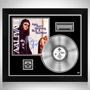 Aaliyah Age Ain't Nothing But A Number Platinum LP Limited Signature Edition Studio Licensed Custom Frame