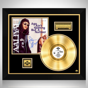Aaliyah - Age Ain't Nothing But A Number Gold LP Limited Signature Edition Studio Licensed Custom Frame