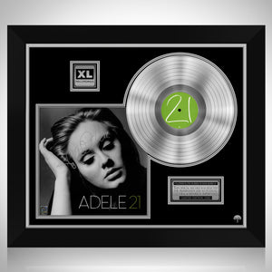 Adele 21 Limited Signature Edition Studio Licensed Platinum LP Custom Frame