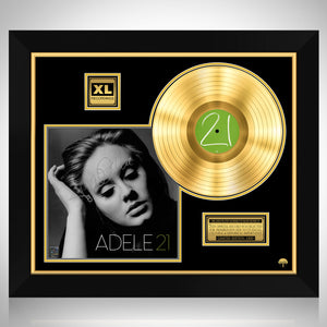 Adele 21 Limited Signature Edition Studio Licensed Gold LP Custom Frame