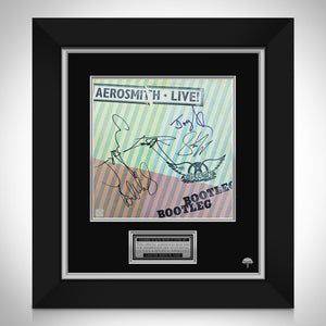 Aerosmith Live Bootleg Limited Signature Edition Studio Licensed LP Cover Custom Frame