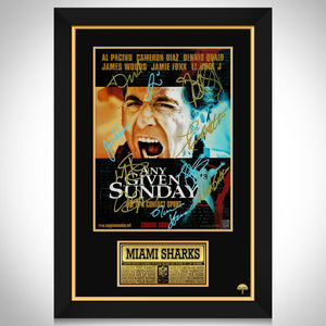 Any Given Sunday Limited Signature Edition Studio Licensed Mini Poster Custom Frame