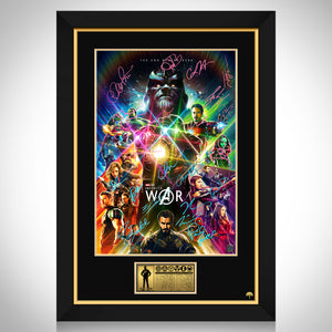 Avengers Infinity War Mini Poster Limited Signature Edition Studio Licensed Custom Frame