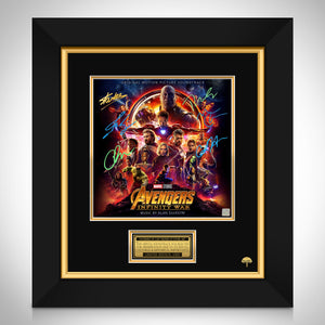 Avengers Infinity War Soundtrack Limited Signature Edition Studio Licensed LP Cover Custom Frame