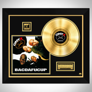 Onyx 'Bacdafucup' Limited Collectors' Edition Studio Licensed Gold Lp Custom Frame