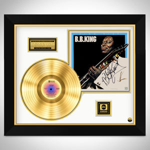 B.B. King - King Size Limited Signature Edition Studio Licensed Gold LP Custom Frame