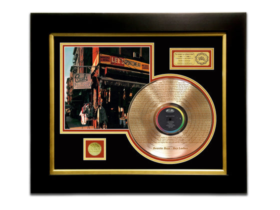 LIMITED EDITION ETCHED GOLD LP 'BEASTIE BOYS - PAUL'S BOUTIQUE' CUSTOM FRAME