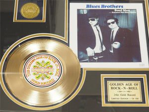 RARE-T Exclusive Limited Edition GOLD 45 'THE BLUES BROTHERS' Custom Frame