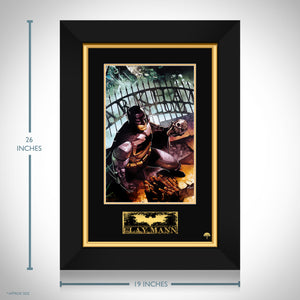Batman 'Arkham' Hand-Signed Artwork Print By Artist Clay Mann Custom Frame