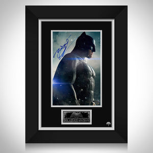 Dark Knight-Jsa/Beckett Certified Signed Index Card & Photo By Heath Ledger & Christian Bale Frame