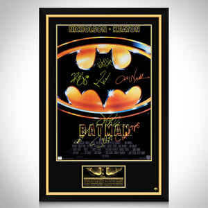 Batman 1989- Cast Hand-Signed Poster Custom Frame