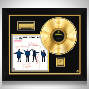 The Beatles Help Gold LP Limited Signature Edition Studio Licensed Custom Frame