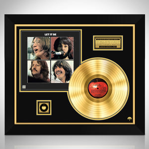 The Beatles Let it be Gold LP Limited Signature Edition Studio Licensed Custom Frame