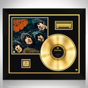 The Beatles Rubber Soul Limited Signature Edition Studio Licensed Gold LP Custom Frame