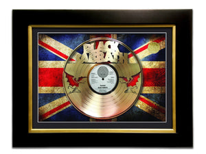 Limited Edition Gold Lp 'Black Sabbath - Paranoid' Custom Frame