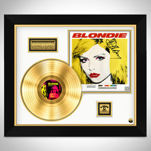 Blondie- 'Greatest Hits' Hand-Signed 24K Gold Plated LP by Debbie Harry Custom Frame