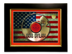 Limited Edition Gold Lp 'Bob Dylan - Highway 61 Revisted' Custom Frame
