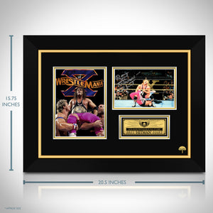WWE- Bret 'Hitman' Hart Hand-Signed Photo by Bret 'Hitman' Hart Custom Frame