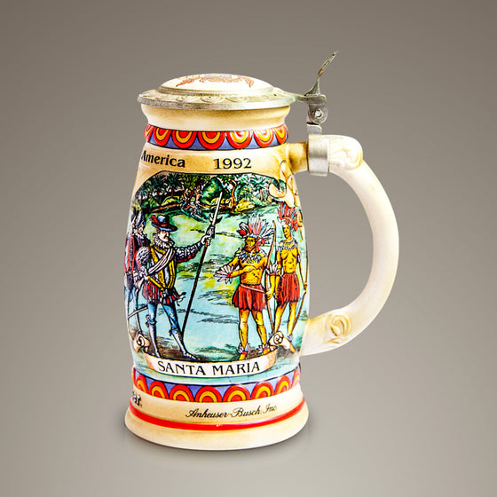 Budweiser/Anheuser-Busch 'Discover America Series' - 1989 Vintage Collector Beer Stein