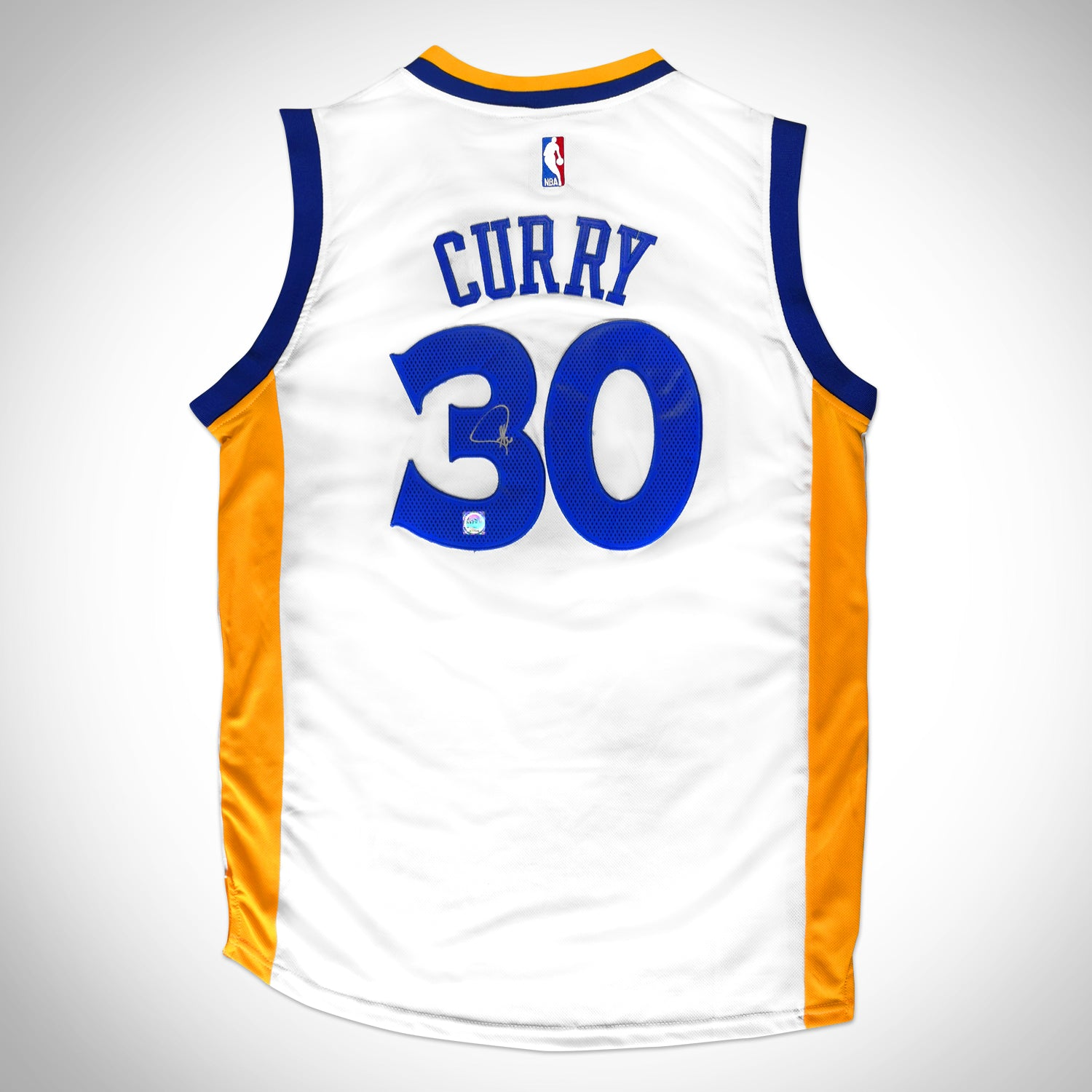 sports shoes e4b6e f65ca Stephen Curry- Hand-Signed Golden State Warriors White Jersey by Stephen  Curry Custom Frame