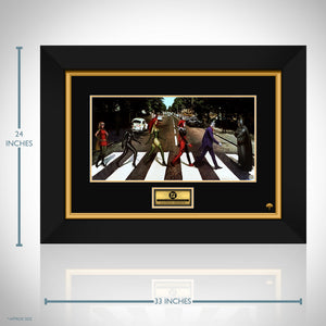 Dc Comics 'Abbey Road' Hand-Signed Artwork Print By Artist Nathan Szerdy Custom Frame