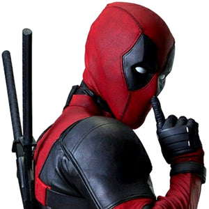 "Deadpool - Pair of Handmade 39"" Sword Props with Black Harness"
