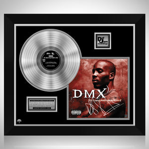 DMX It's Dark And Hell Is Hot Platinum LP Limited Signature Edition Studio Licensed Custom Frame