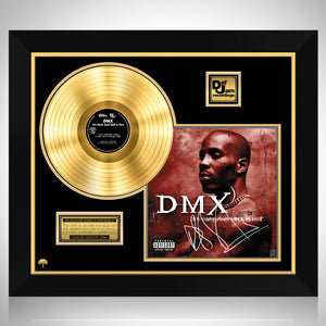 DMX It's Dark And Hell Is Hot Gold LP Limited Signature Edition Studio Licensed Custom Frame
