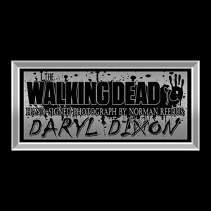 Walking Dead- 'Daryl With Bow' Hand-Signed Photo By Norman Reedus Custom Frame