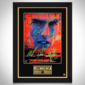 Days of Thunder Mini Poster Limited Signature Edition Studio Licensed Custom Frame