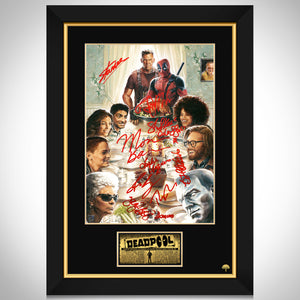Deadpool Thanksgiving Mini Poster Limited Signature Edition Studio Licensed Custom Frame