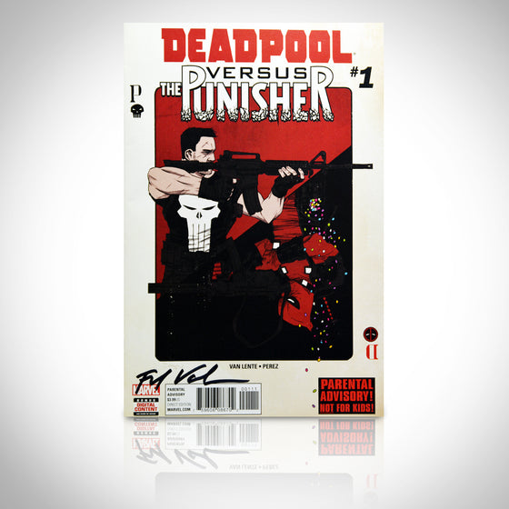 'DEADPOOL VS PUNISHER #1 - HANDSIGNED BY FRED VAN LENTE' Comic Book