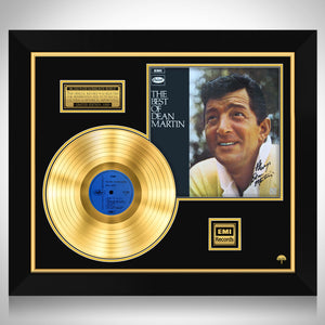 Dean Martin The Best of Dean Martin Limited Signature Edition Studio Licensed Gold LP Custom Frame