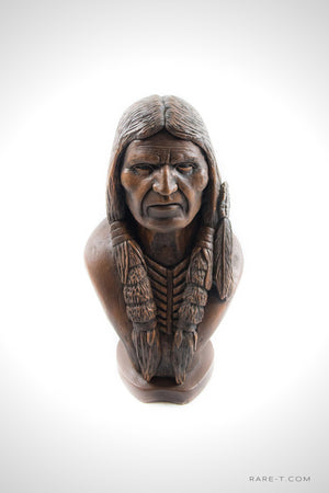 Vintage Limited Edition 'CARVED CIGAR STORE INDIAN CHIEF' Statue | RARE-T