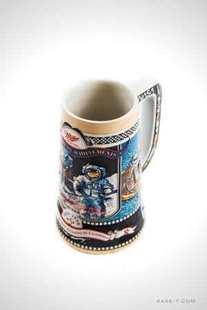 Vintage Miller '1969-NASA/FIRST MAN ON THE MOON' 1990 Beer Stein | RARE-T