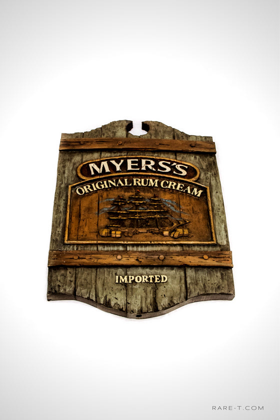 'MYERS'S-JAMAICAN RUM CREAM Pirate Ship' Bar Sign - RARE-T