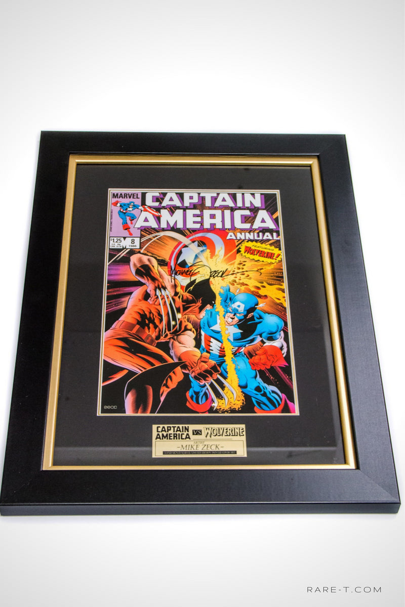 RARE-T Exclusive | 'MARVEL CPT. AMERICA VS WOLVERINE' Signed Zeck Print