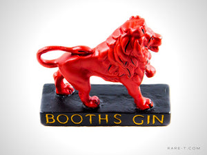'BOOTH'S-RED LION' Gin Bar-Back Display | RARE-T