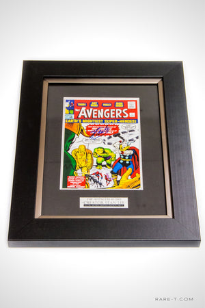 RARE-T Exclusive | #1 AVENGERS-1963 PRINT - Signed by STAN LEE