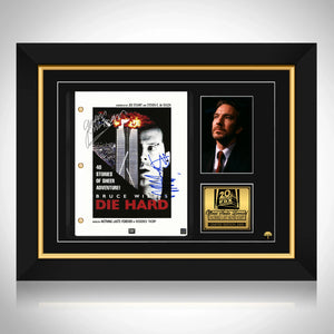 Die Hard Script Limited Signature Edition Studio Licensed Custom Frame