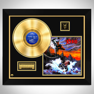 Dio 'Holy Diver' Limited Collectors Edition Studio Licensed Gold LP Custom Frame