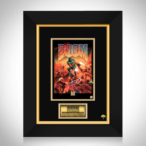 Doom (1993 game) Dwayne Johnson & Karl Urban Limited Signature Edition Game Cover art Custom frame